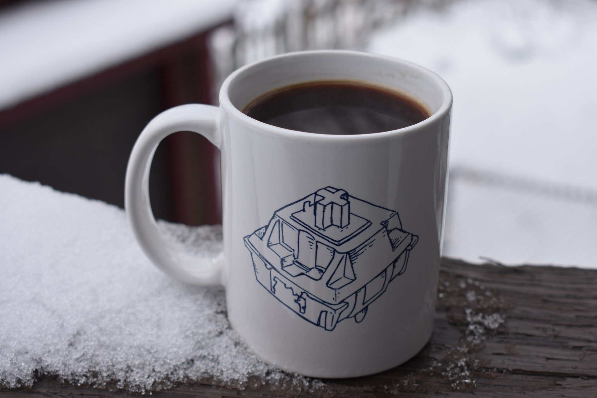 Cherry MX Switch Blueprint Mug