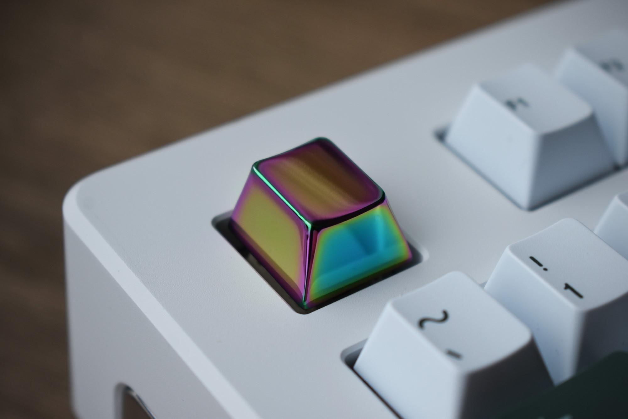 CRUCIBLE Rainbow Chrome Aluminum Keycap
